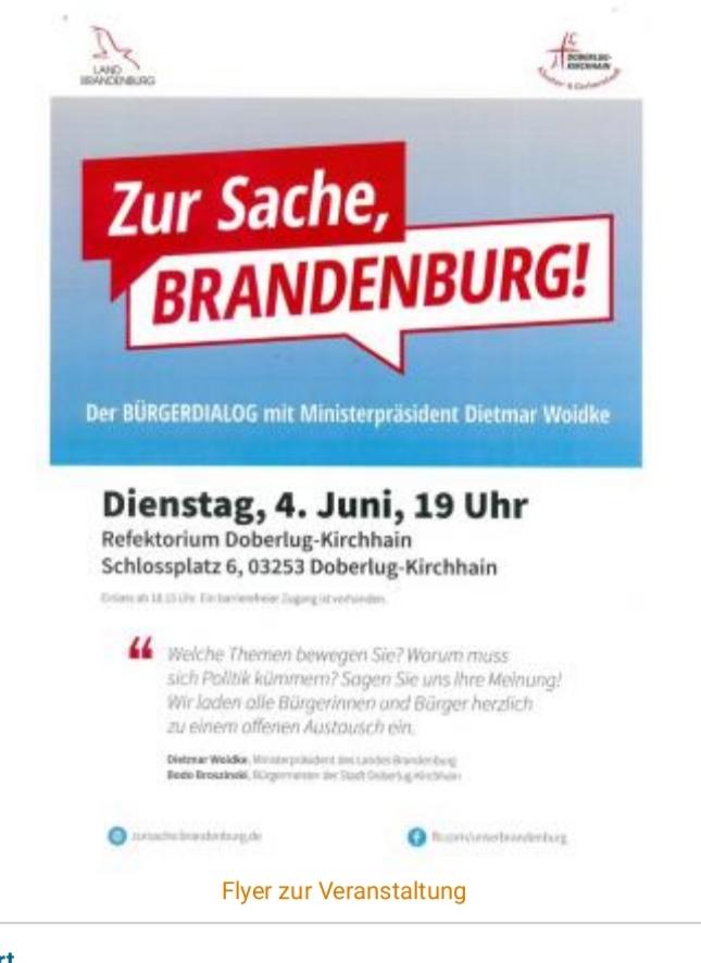 Zur Sache Brandenburg, ,nicht nur reden sondern handeln !