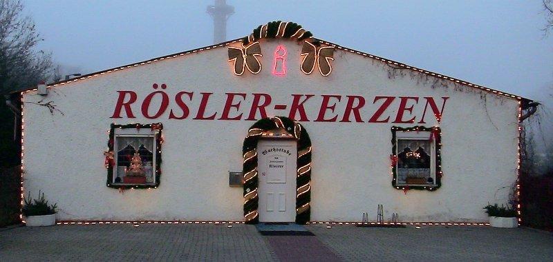Bei Rösler Kerzen brennen wieder die Lichter, trotz Konflikte mit der Stadt / Landkreis